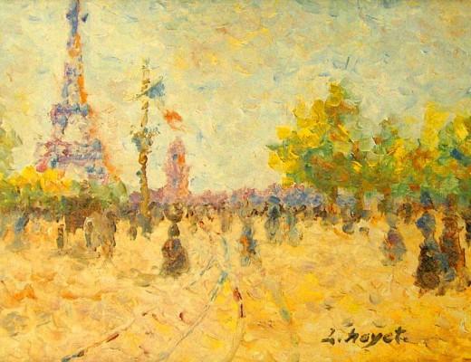 Paris la Tour Eiffel de Louis Hayet
